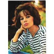 Leslie Caron Autograph. Signed Postcard. CoA