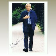 Mikhail Gorbachev: Color Photo hand-signed. CoA