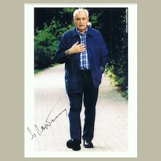 Mikhail Gorbachev: Color Photo hand-signed. CoA