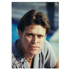William Dafoe Autograph on Photo. CoA. Signed in Wien