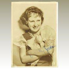 Dorothy Jordan Autograph. Signed Photo, CoA