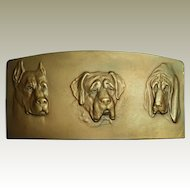 R. Placht Bronze Plaque. Three Dogs