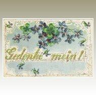 Embossed vintage Postcard Remember Me!