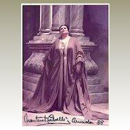 Montserrat Caballe Autograph from 1988: 5 x 7. COA