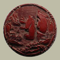 Chinese Red Lacquer Box with Rocks from app. 1910