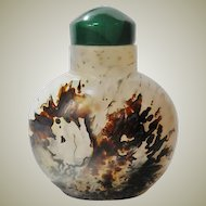 Stunning Chinese Agate Snuff Bottle
