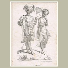 Africans: Etching from app. 1830