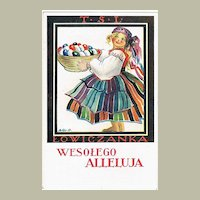 Polish Easter Postcard from WWII as Fieldpost 1940