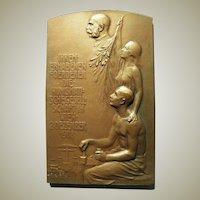 Bronze Plaque Signed Hujer. Numismatic.