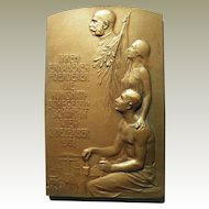 Bronze Plaque Signed Hujer. Numismatic.