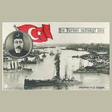 Turkey strikes out: Vintage Postcard, app. 1915