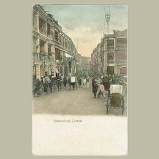 Hong Kong Queensroad Central. Antique Postcard.