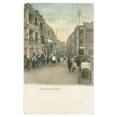 Hong Kong Queensroad Central. Antique Postcard.