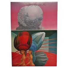 Surrealistic Painter Wolfgang Hutter Autograph on Artist Postcard CoA