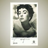 Liz Taylor Autograph: Early Signature. CoA