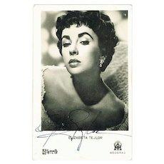 Liz Taylor Autograph: Early Signature. CoA