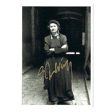 Nobel Price Winner Elfriede Jelinek Autograph. CoA
