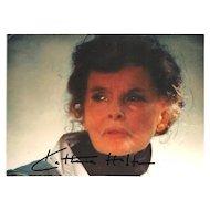 Katherine Hepburm Autograph. Signed Photo, CoA