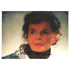 Katherine Hepburm Autograph. Signed Photo, CoA