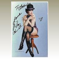 Liza Minnelli Autograph. 10 x 7. CoA