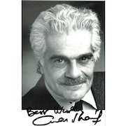 Omar Shariff Autograph: Signed Photo. CoA