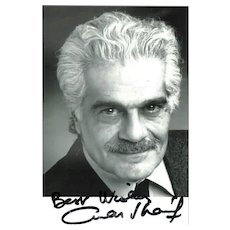 Omar Shariff Autograph: Signed Photo. CoA