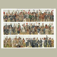 1900: Imperial German Army and Marines. Colorful Chromolithograph