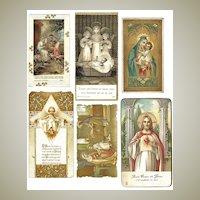 6 Religious Prints for Prayer Books. European