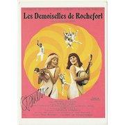Catherine Deneuve Autograph on Movie Color Print. CoA