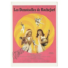 Catherine Deneuve Autograph on Movie Color Print. CoA