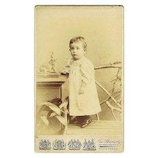 Friedrich Ernst Saxe Altenburg CDV. The Prince as Baby Boy