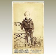 Wilhelm Georg Saxe Altenburg CDV. Heir to the Throne as Baby Boy. 1905