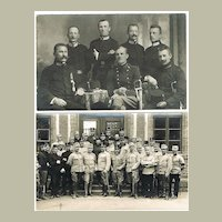 Military Staff with Sabres and Decoration. Austrian Army Photos