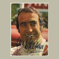 Clay Regazzoni Autograph. Early Postcard. CoA