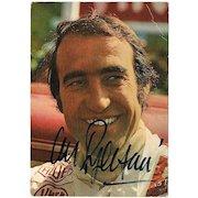 Clay Regazzoni Autograph. Early Postcard. CoA