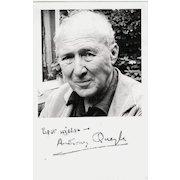 Anthony Quayle Autograph. Signed Photo. CoA