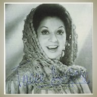 Teresa Berganza Autograph on Photo. CoA