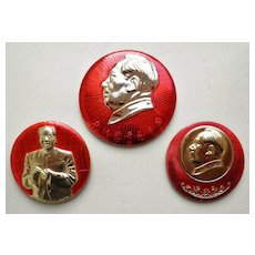 China, Cultural Revolution. 2 Mao Pins.