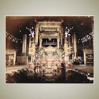 Chioin Temple Kioto. 2 Large Tinted Albumen Photos. 1880s
