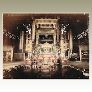 Chioin Temple Kioto. 2 Large Tinted Albumen Photos. 1880s