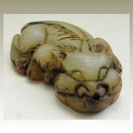 Antique Chinese Jade Toggle of little Tiger