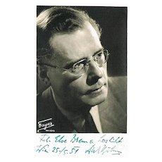 Conductor Karl Boehm Autograph on Photo. CoA