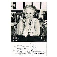 Olivia de Havilland Photograph with Authentic Autograph. COA