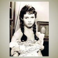 Brigitte Bardot Autograph on 8 x 11 Photo. CoA
