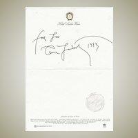 Annie Leibovitz Autograph on Hotel Sacher Stationary, 1993