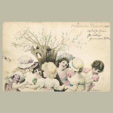 Cute Easter Postcard by von Wichewra 1905