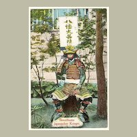 Japanese Warrior: German Advertising Postcard for Dogs Diseases