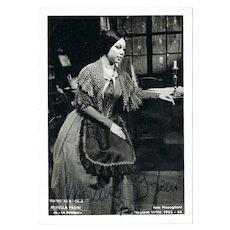 Mirella Freni Autograph from 1963. Hand Signed La Scala Photo, CoA