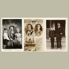 British Royals: 3 vintage Photos incl. Prince Charles as Juvenile.