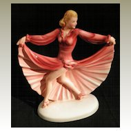 Art Deco Dancer. Dakos Porcelain figurine from Austria by Keramos